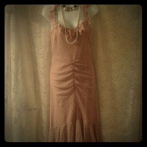 Dresses & Skirts - ASOS Dusty P ink Layered Ruffle Hem Maxi Dress 6